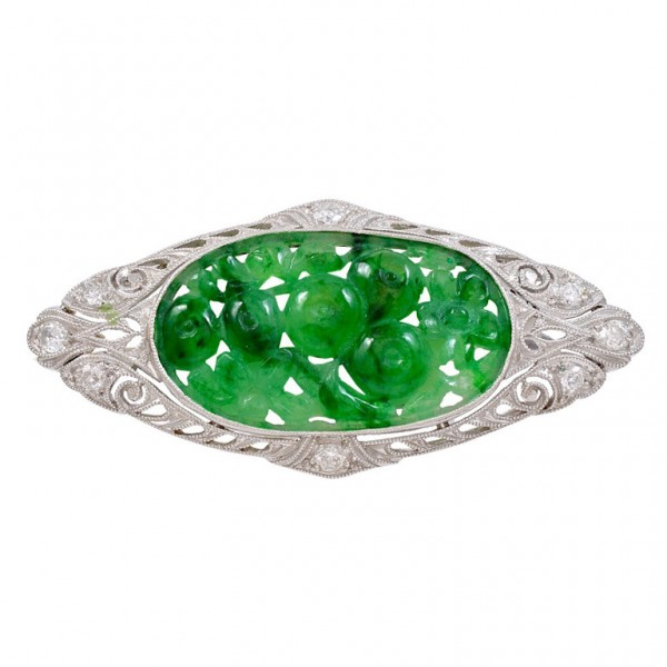 Art-Deco-Carved-Jadeite-Jade-Platinum-Brooch-1