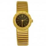 Bulgari-Ladys-Yellow-Gold-Flexible-Bangle-Watch