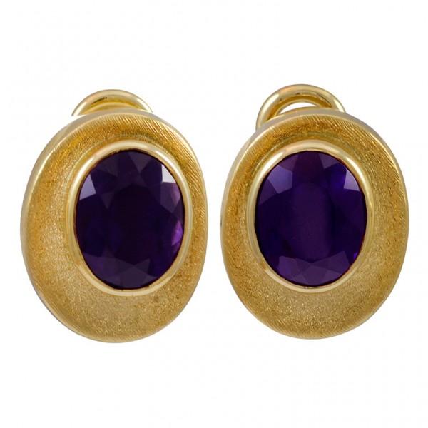 Burle-Marx-Oval-Amethyst-Gold-Clip-Earrings-1