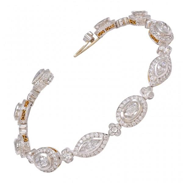 Michael-Beaudry-Fancy-Shaped-Diamond-Gold-Platinum-Bracelet-1