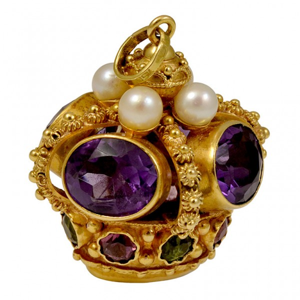 Multi-Colored-Gemstone-Gold-Crown-Charm-1