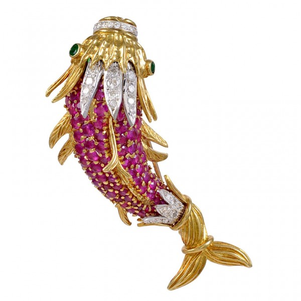Ruby-Emerald-Diamond-Fish-Brooch-1