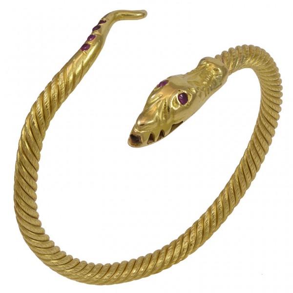 Serpent-Slip-On-Gold-Cuff-Bracelet-1