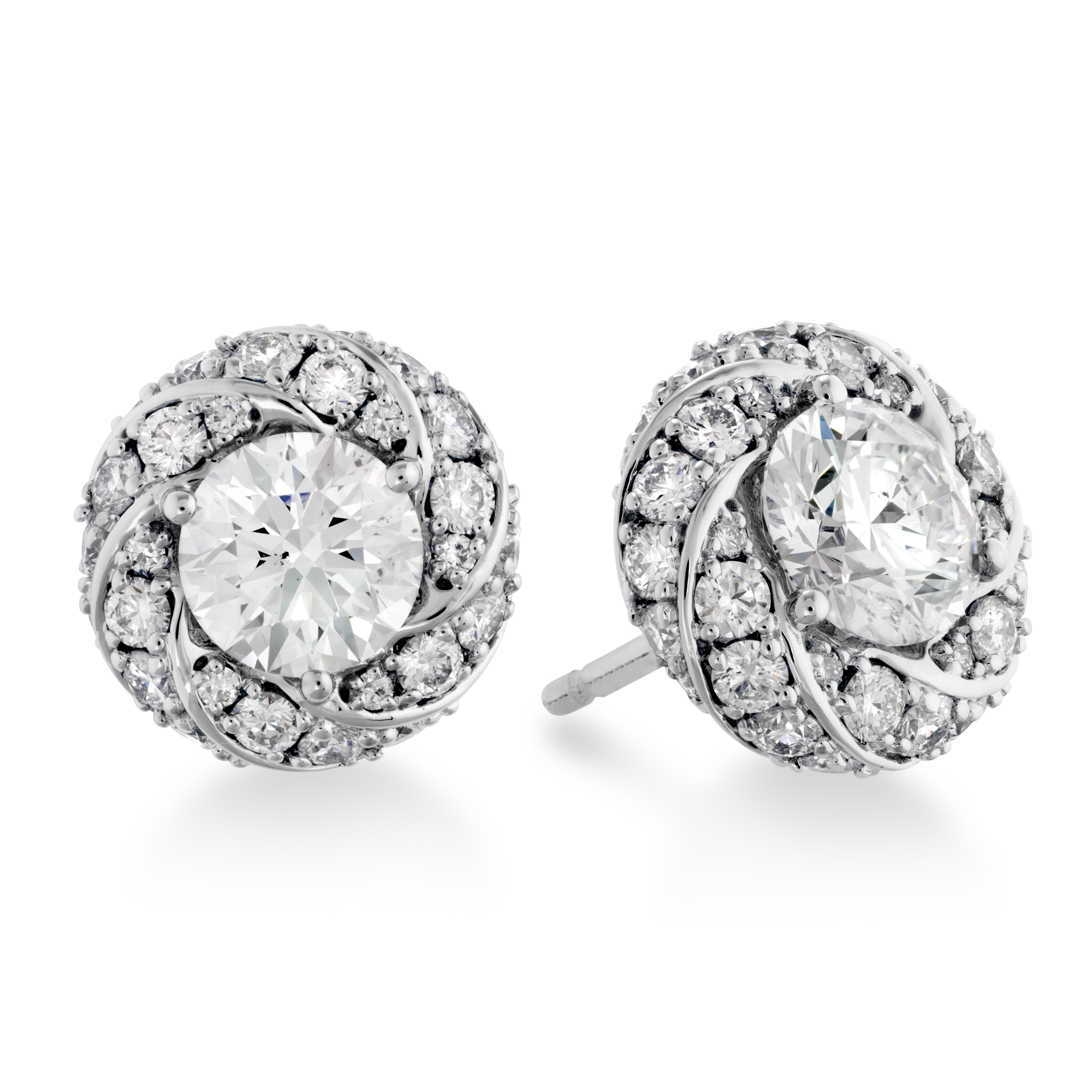 diamond round jewellery graff classic stud earrings collections