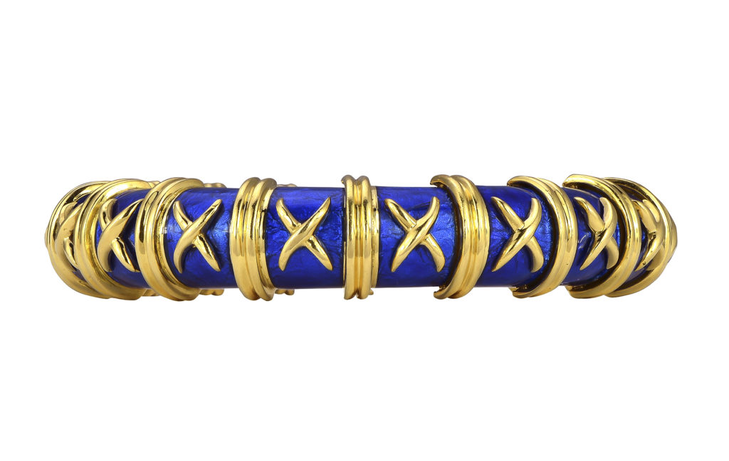 543d0b0b7 Schlumberger 18k Yellow Gold Bangle Bracelet. Hover or click on image to  zoom.