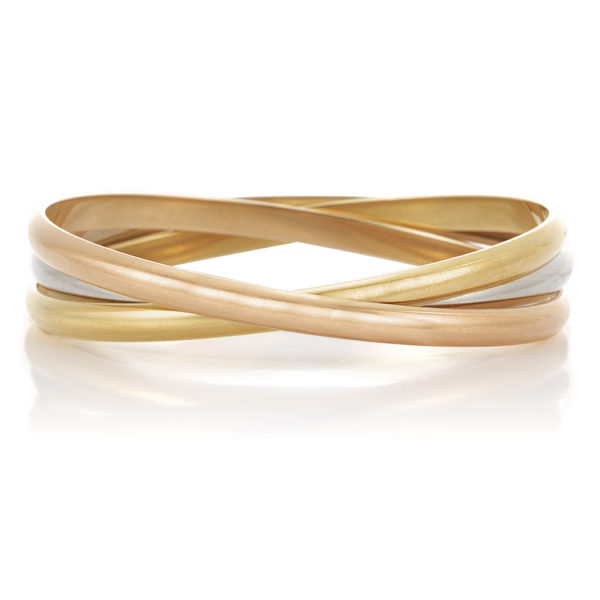 Cartier Trinity Bangle Bracelet 4 50 Millimeter Width Each