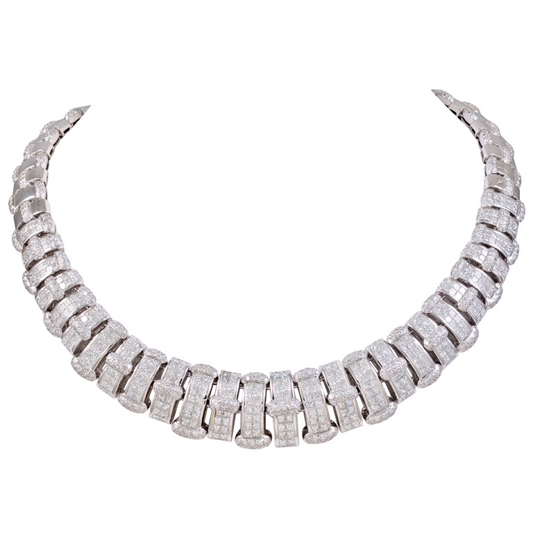 Diamond-white-Gold-Collar-Necklace-1