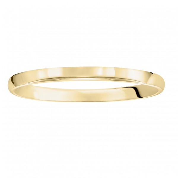 2mm Comfort Fit Low Dome Wedding Band With A High Polish Finish