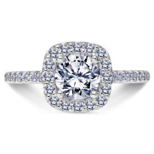 DC Halo Engagement Ring