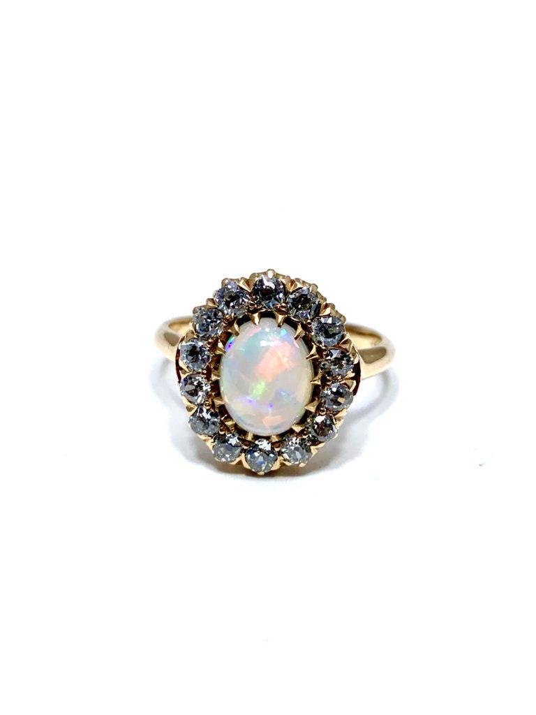 cabochon white opal art deco 5