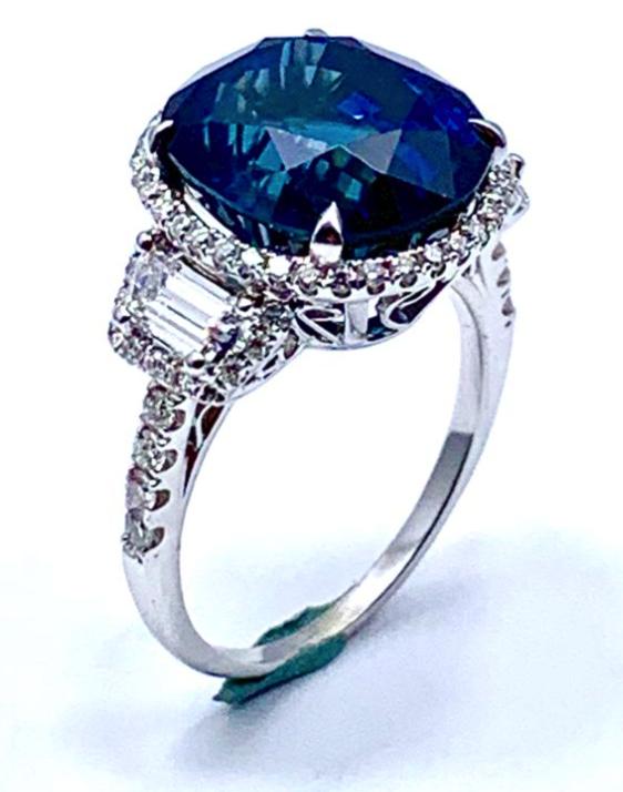 Gemstone Engagement Ring